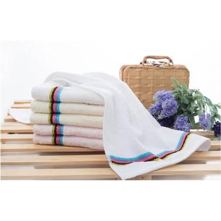 孚日洁玉毛巾两色四条装  纯棉 素色多臂1267毛巾