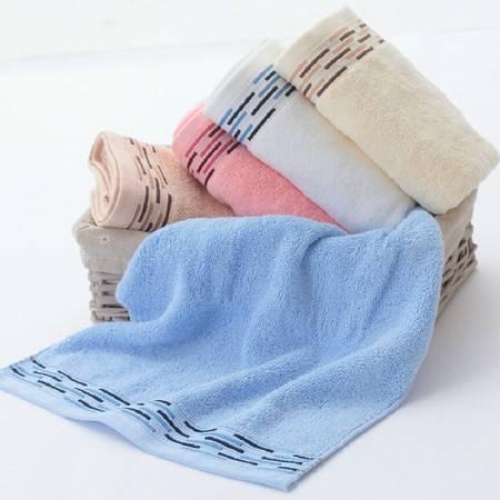 洁玉毛巾 纯棉清盈抑菌 加厚面巾 JY-1423F 棕色/粉色 34x74cm