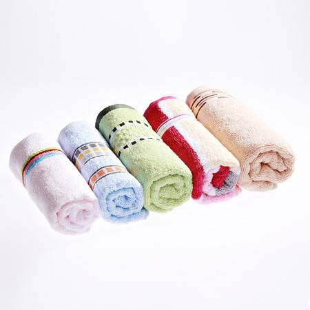 孚日家纺 毛巾超值五条家庭装 成人毛巾纯棉 面巾