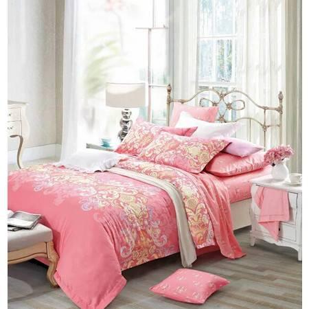 华智家纺 正品高档长绒棉四件套欧式床上用品 纯棉床单被套 米兰之约