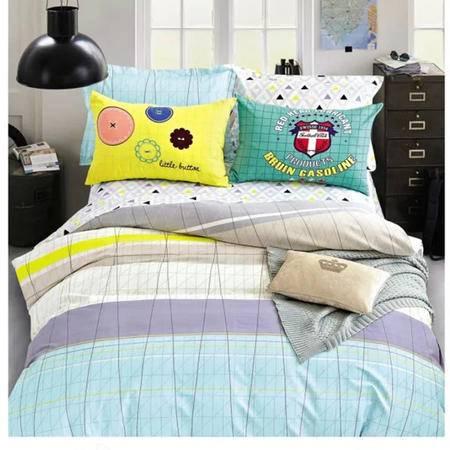 华智 纯棉斜纹印花标准四件套 1.5米床