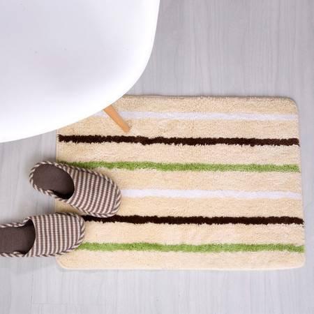 凯诗风尚 条纹地垫 防滑地垫 可机洗 50*70  颜色随机 特殊要求可备注
