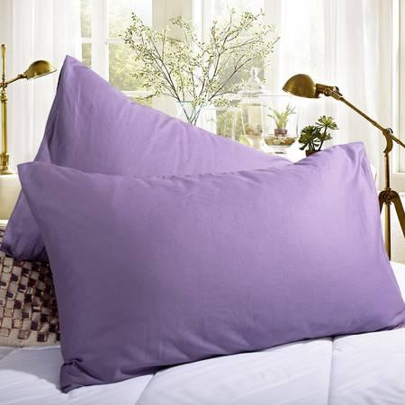 凯诗风尚 素色 全棉 枕套 一对装 三色可选 48*74