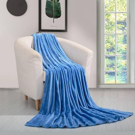 凯诗风尚 法兰绒毯 睡眠毯 保暖床单 蓝色/鲜艳桃红150*200