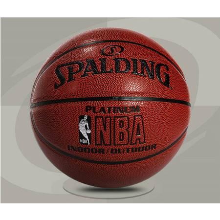 正品Spalding斯伯丁篮球 NBA LOGO BALL 铂金经典篮球 64-282