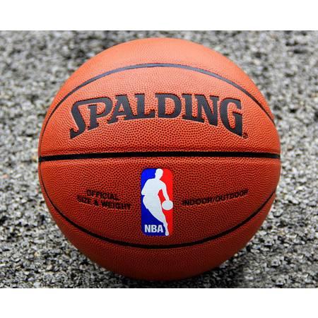 SPLDING/斯伯丁正品64-288 牛皮质感室外水泥地篮球NBA篮球包邮