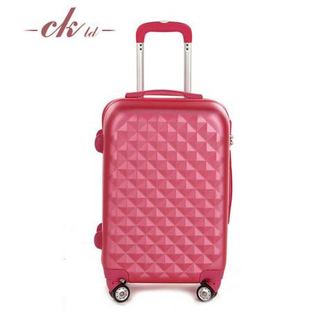乔顺达 萝莉粉超轻抗压磨砂ABS拉杆行李箱多色坚固旅行箱 20寸602