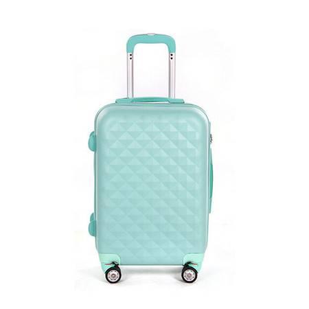 乔顺达 萝莉粉超轻抗压磨砂ABS拉杆行李箱多色坚固旅行箱 24寸602