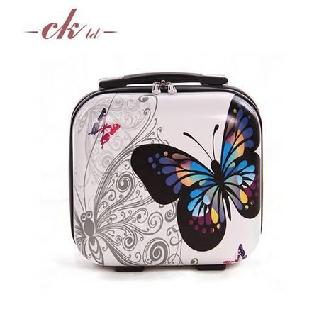 乔顺达 时尚便携式拉杆箱 旅行箱行李箱包万向轮 蝴蝶15寸 QSD003