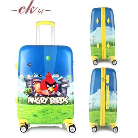 乔顺达 韩版时尚旅行箱 万向轮行李箱拉杆箱 卡通愤怒小鸟20寸 QSD002