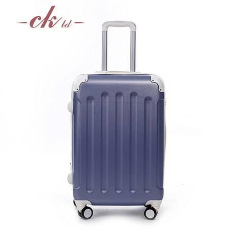 乔顺达 新款拉杆箱行李箱万向轮旅行密码箱子 镜面PC24寸 QSD010