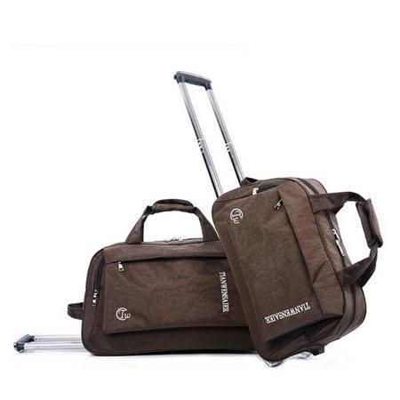 爱芙莱妮 拉杆包大容量旅行袋男女时尚水洗布20寸22行李袋 shuixi