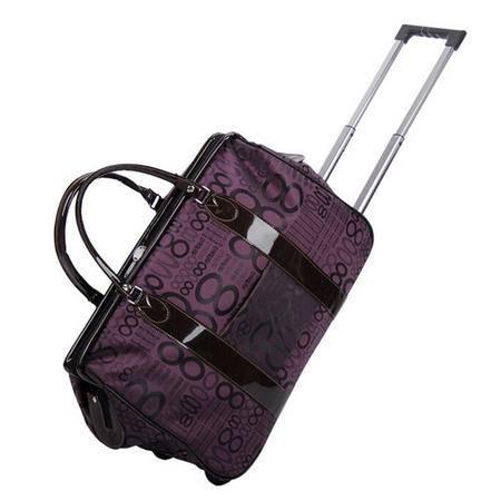 爱芙莱妮 手提旅行袋韩版大容量拉杆包20寸短途包 紫八