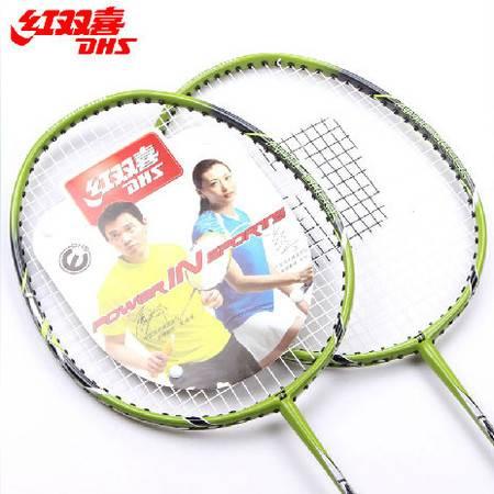 红双喜 羽毛球拍 新款E系列2支装 碳复合双拍 送拍套 RX201