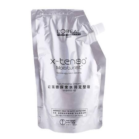 正品 欧莱雅探索水润直发定型液400ml 直卷发定型水剂配合烫发膏