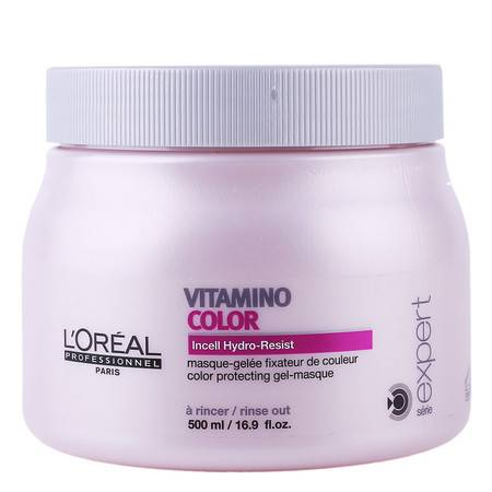 正品欧莱雅染后护色发膜500ml 提亮护色修复染后受损发质进口