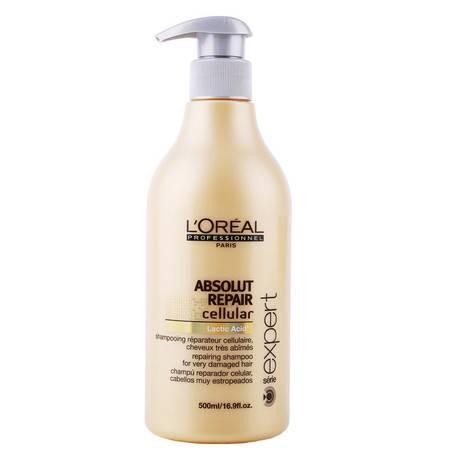 正品 进口欧莱雅致臻修护洗发水500ml 专业修复烫染受损发质