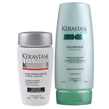 西班牙进口卡诗纤细发质洗发乳洗发水250+丰盈活力护发素200纤弱防脱发发水