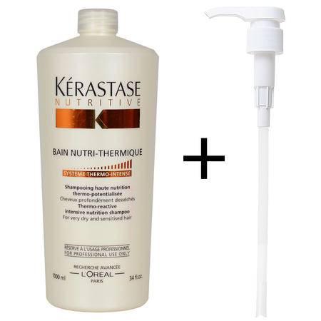 进口卡诗卓越热滋养洗发水1000ml 烫染后干枯受损发质洗发乳
