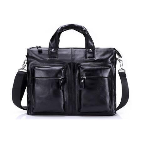 名仕MS 正品欧美新款男士商务包出差公文包 手提单肩包 MS8038