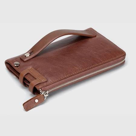 名仕MS 高档长款男士钱包 真皮手拿包 卡包 商务手机包 MS9001