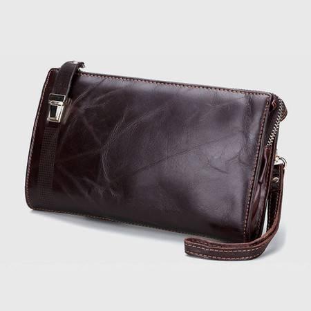 名仕MS 光面男士钱包 多卡位横款手拿包 真皮商务钱夹包 MS9007