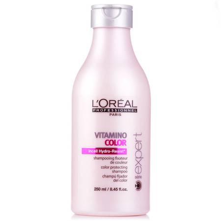 正品 欧莱雅洗发水染后护色洗发水250ml护色提亮修护进口