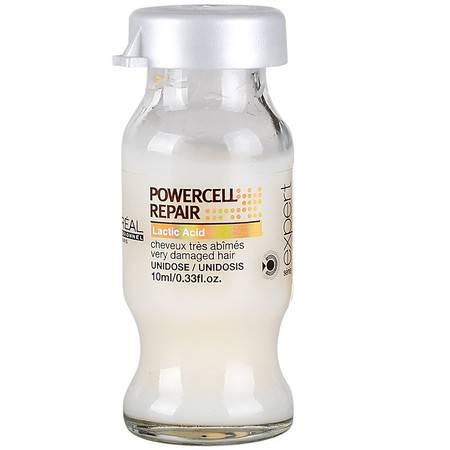 正品 欧莱雅致臻修护强化护理液10ml 烫染损伤护发液 修复小强