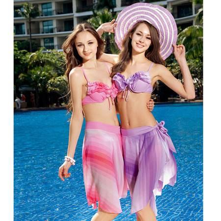 倬妍 温泉泳衣11377刚托裙式比基尼 带披纱 3种穿法 22150