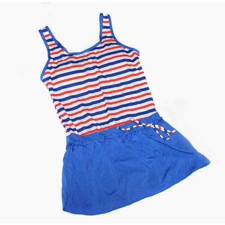 夏俪儿 女士游泳衣 连体裙式女式泳装氨纶圆领背心平角裤 99816
