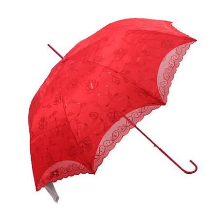 天堂伞 美丽新娘大红结婚直杆雨伞 蕾丝花边遮阳伞 1351E