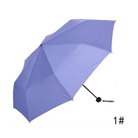 天堂伞 极简细格男士折叠强力拒水钢骨创意晴雨伞 33192E