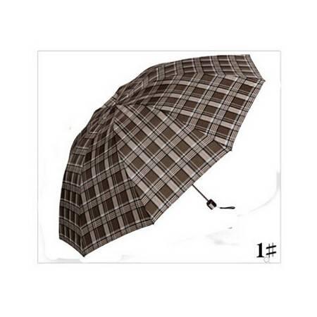 天堂伞 三折超大加固晴雨格子伞 防紫外线商务伞 3309e格