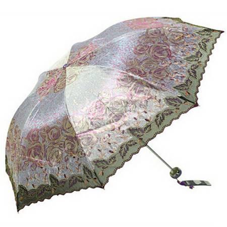 天堂伞 正品创意超轻高档绣花遮阳防晒防紫外线太阳晴雨伞 33059
