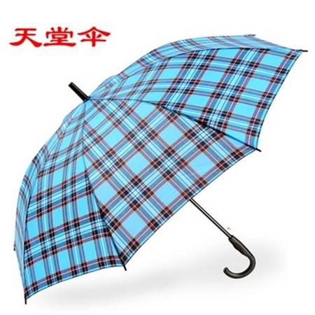 天堂伞 条纹格子晴雨伞遮阳太阳伞直杆长柄伞 13008