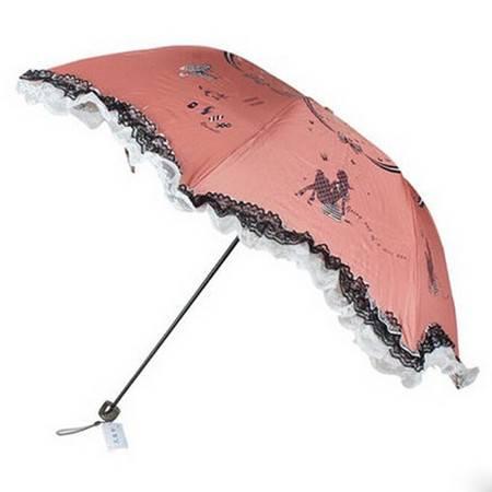 天堂伞 美女主张 靓丽淑女蘑菇防晒防紫外线公主伞 31003E