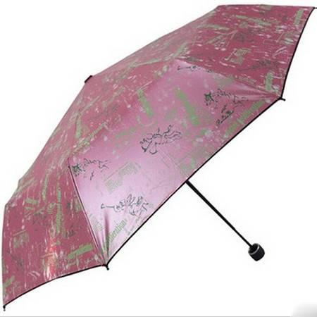 天堂伞 爱无止境折叠超细铅笔防大风防紫外线晴雨伞 33155E