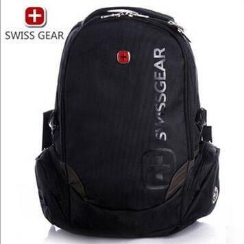 瑞士威戈 17寸大容量电脑双肩包学生书包黑色 SA0810