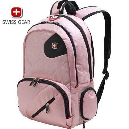 瑞士威戈 15寸 多功能双肩包黑色、粉色笔记本包 S008