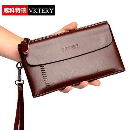 威科特瑞 新款手拿包 夹包手包牛皮真皮商务钱包 VKTR090