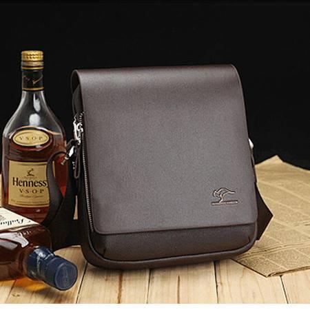 威科特瑞 竖款中号黑色男士公文包 单肩休闲包 4362