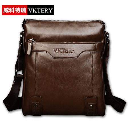 威科特瑞 潮包韩版男包单肩包斜挎软包VKTR V195