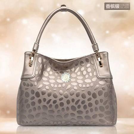 卡希洛 2015新款欧美时尚复古女包 压花真皮手拎包单肩包 051
