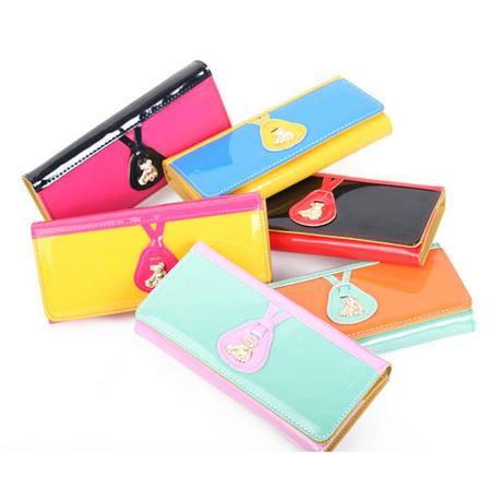 卡希洛 韩版女式钱包 卡包  女式彩色长款手拿包 0003