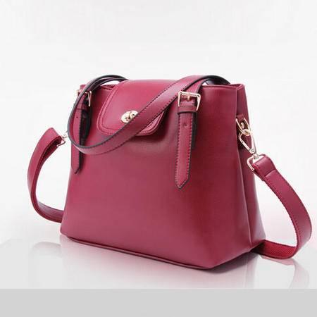 卡希洛 手提包女包 时尚品牌单肩斜跨双袋口女士真皮包包 017