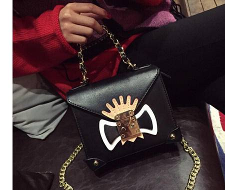 卡希洛 新款大牌锁扣女包链条手提包印花单肩包潮 DY-涂鸦小包
