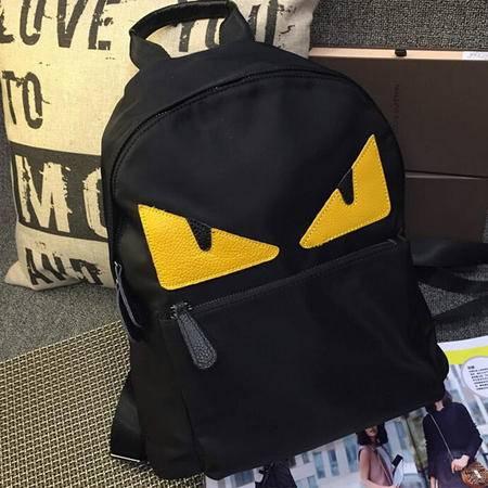 卡希洛 怪兽猫脸卡通图案双肩包韩版尼龙学生背包 小怪兽背包