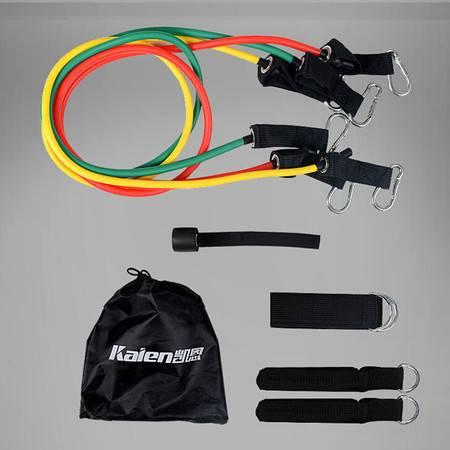 凯恩 健身拉力器材多功能家用力量训练套装 女士9件套45磅 KE-331
