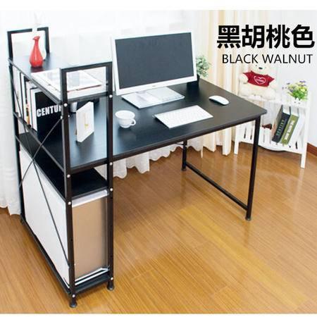 禾一木语 台式家用电脑桌简约书桌 简易电脑桌带书柜写字台 H桌