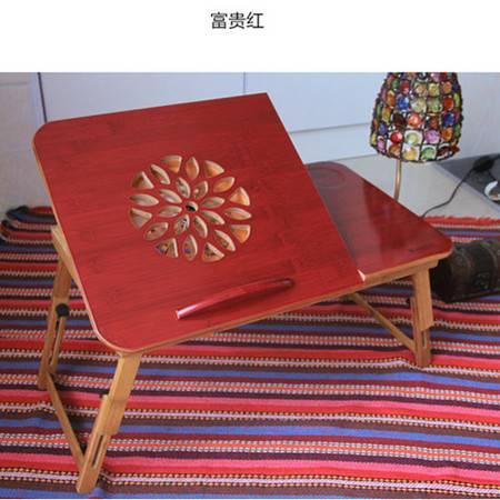 阳光谷 床上电脑桌懒人桌折叠散热桌 简约竹子 大号莲花装风扇 YZJD1008